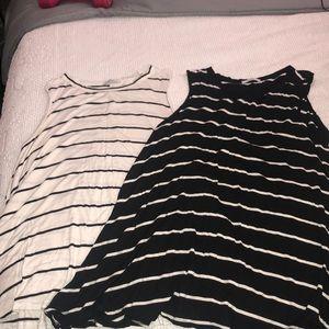 BUNDLE: two acemi shift shirt- dresses